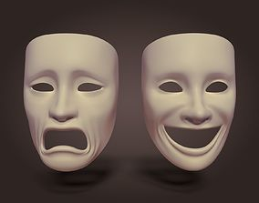 decoration 3D model game-ready Theater Mask