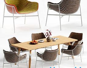Varaschin SUMMERSET Chair and LINK Table 3D model
