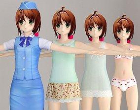 T pose nonriged model of Karin anime girl female