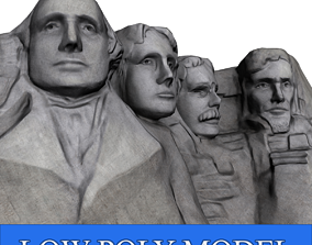 Mount Rushmore Low Poly 3D model