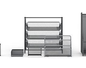 3D Mesh Metal Document Organizer Storage Set