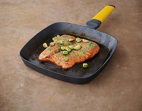 3D Salmon with Vegetables