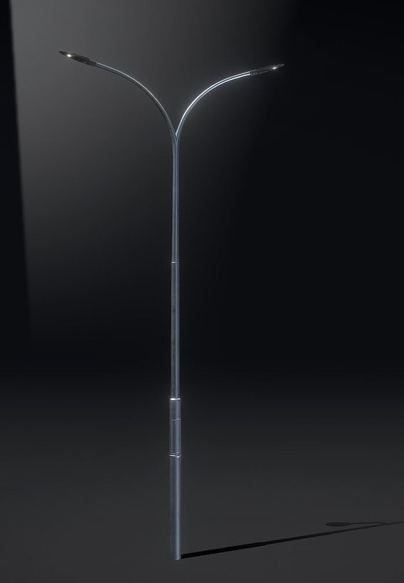 Sci-Fi Street Light 14 version 10 6m with pole 4 Blender-2.90.1
