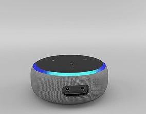 Amazon Echo Dot 3rd Generation 2018 - Heather Gray 3D