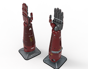 Robot Android mechanical hand 3D