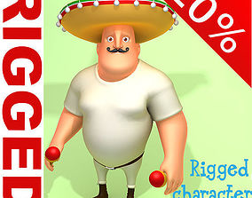 Mexican man Cartoon Rigged 3D