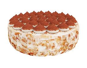 Tiramisu cake 3D model