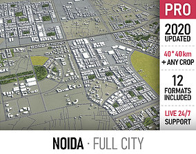 3D model Noida - city and surroundings
