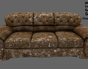 Armchair 3D asset game-ready canape