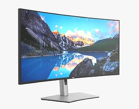 3D Dell Ultra Sharp LCD 38 curved inch monitor