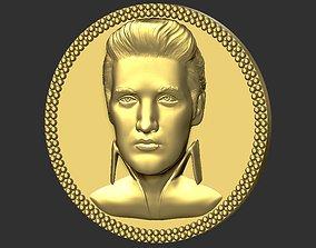 Elvis Presley medallion pendant 3D printing ready stl