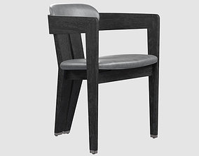 Maryl dining chair charcoal 3D asset