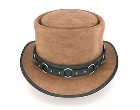 Western Top hat PECAN USA 3D model