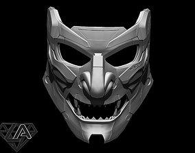 game-accessories Demon CyberONI mask 3D printable model