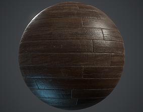 Old woodstrip Parquet - PBR textures 3D asset realtime