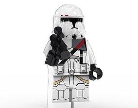 3D model LEGO Minfigure Clone Trooper Bacara