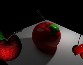 3D print model apple