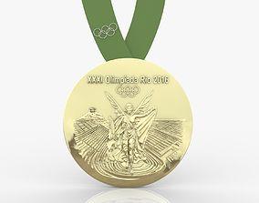 2016 Rio Olympics Medal 3D print model sculpt