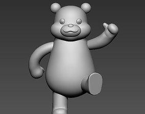 3D printable model cartoon bear