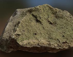 3D Moss Rock 01