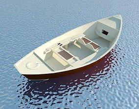 3D model Wooden Boat MAX 2011