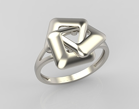 Ring geometric with rhombuses 3D printable model