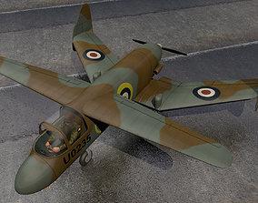Miles M-35 Libellula 3D warplane