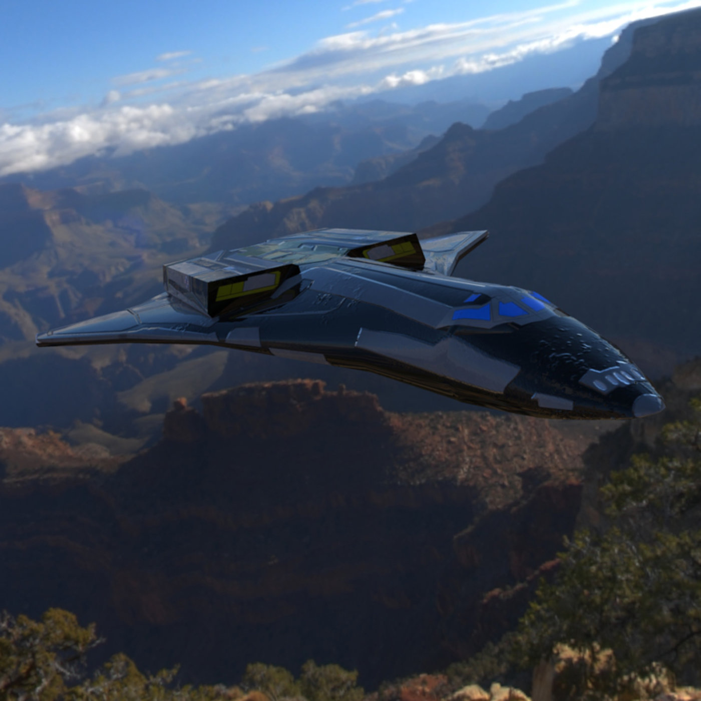 Elysium ST-7A In Flight