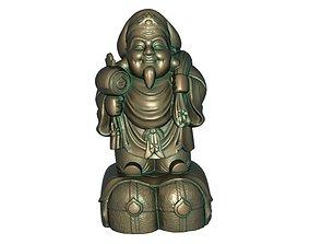 3D printable model girl God of wealth