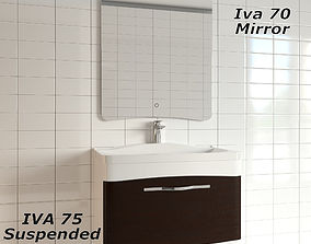 3D model Velvex Suspended iva 75 Mirror iva 70