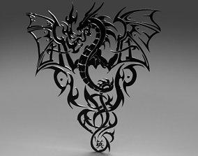 3D print model Tribal Dragon