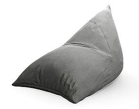 3D Armchair Rolled Onto Floor As Cushion