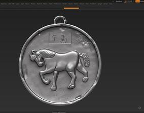 Horse Zodiac Sign 3d print model 3D print model