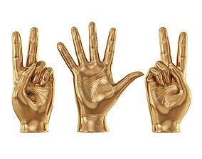 Sculpture Hands Sign 3D