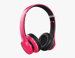 3D model Bluetooth headphones red
