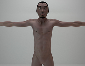 3D asset Animation Ready Human Male Black Character Rigged