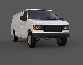 3D Van Highpoly model