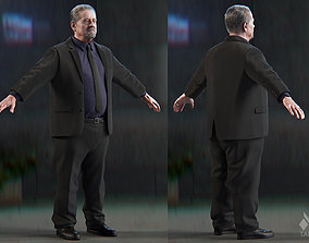 Clothing Smart Suit Heavy Male 3D model
