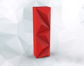 Lowpoly letter I 3D print model