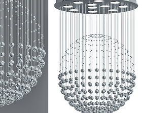 Contemporary Crystal Ball Chandelier 3D model