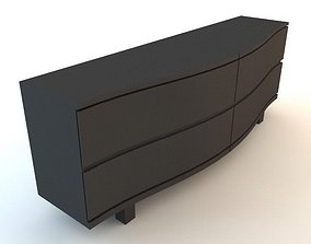 3D Black Chest of Drawers 2