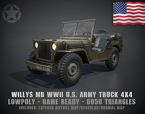 Low Poly Willys MB 3D asset