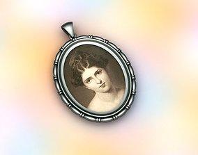 antique frame necklace2 3d modelling printer 3dprinting