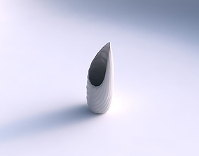 3D printable model Vase Tsunami with twisted bands