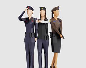 Police Women 3D asset