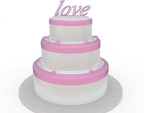 3D model sweet Wedding Cake