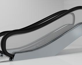 Escalator Animated 3D Model animated