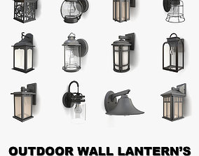 Outdoor wall lanterns collection 2 3D
