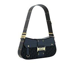 Dior Street Chic Bag Black Print 3D model