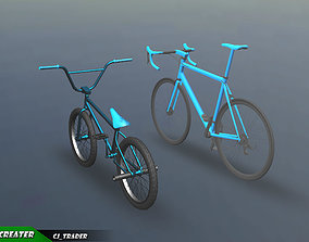 Low-poly Bicycle Collection Pack 3D Model rigged